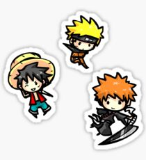 Chibi shonen heroes Sticker