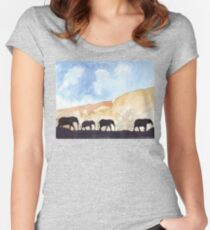 Silhouettes of Africa  Women's Fitted Scoop T-Shirt