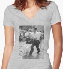 Bernie Arrest Women's Fitted V-Neck T-Shirt