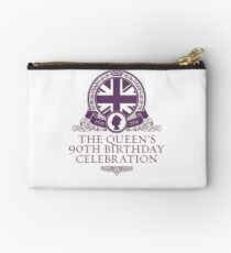 Queen's 90th Birthday #HappyBirthdayYourMajesty (T-shirt, Phone Case & more) Studio Pouch