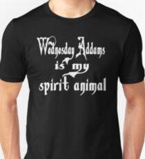 Camiseta unisex Miércoles Addams es mi espíritu animal