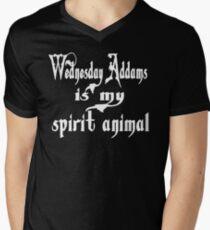 Wednesday Addams Is My Spirit Animal Men's V-Neck T-Shirt