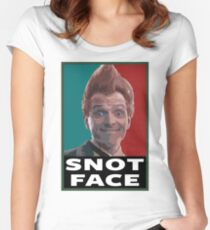 Snot Face Women's Fitted Scoop T-Shirt