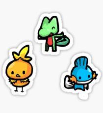 Chibi Gen 3 Starters Sticker