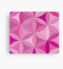 Flower of life pink Canvas Print