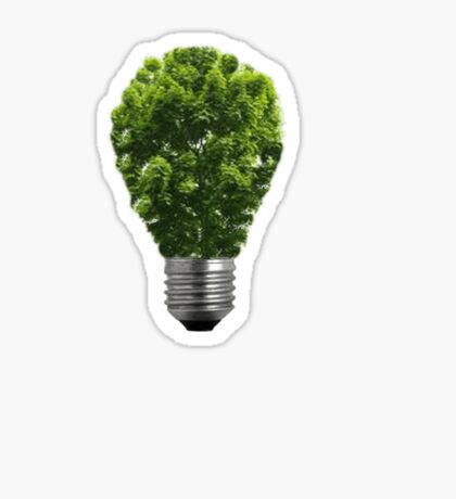 Green Lightbulb Sticker