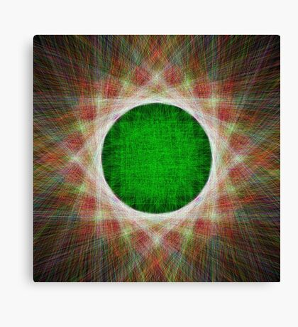 Green Button Planet Canvas Print