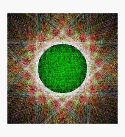 Green Button Planet Photographic Print