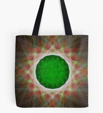 Green Button Planet Tote Bag