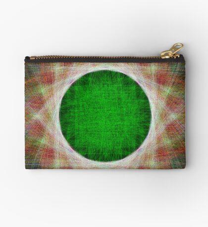Green Button Planet Zipper Pouch