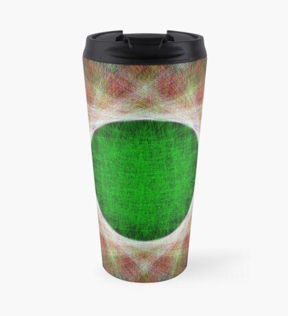 Green Button Planet Travel Mug