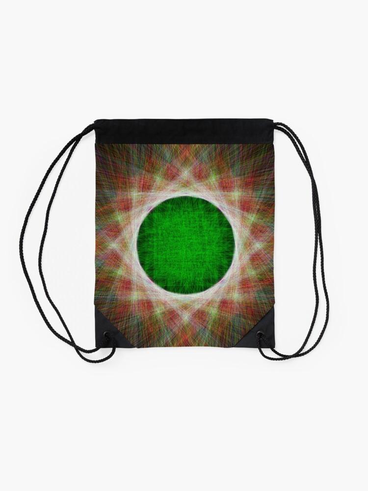 Alternate view of Green Button Planet Drawstring Bag