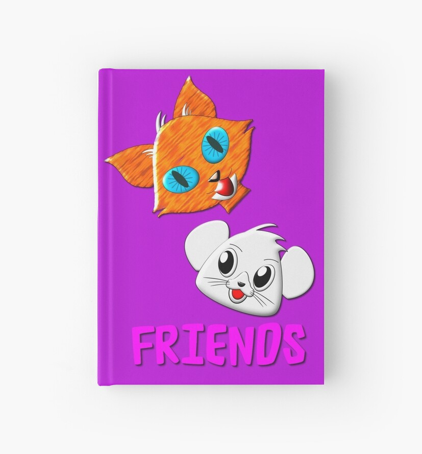 Pussy Cat and Mouse FRIENDS hardcover journal, etc. design by Dennis Melling