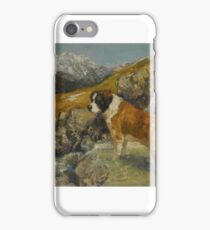 Neil Forster ST. BERNARD IN A MOUNTAINOUS LANDSCAPE iPhone Case/Skin