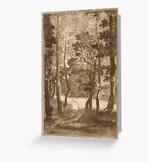 Nicolas Poussin - Forest Path  Greeting Card