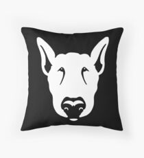 Bull Terrier Head Graphic  Throw Pillow