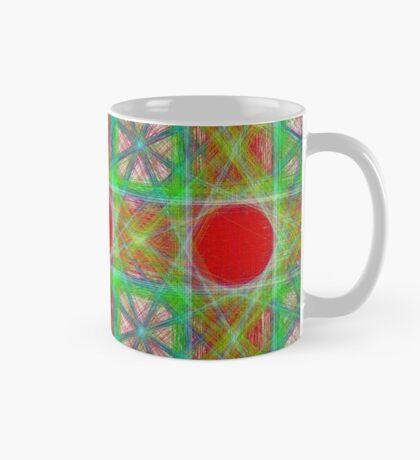 Nine Red Button Planets Mug