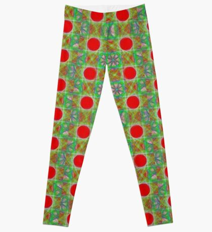 Nine Red Button Planets Leggings