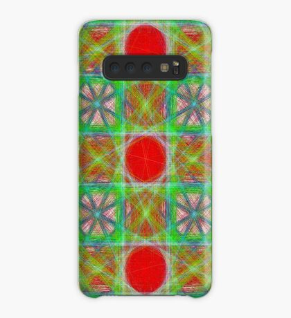 Nine Red Button Planets Case/Skin for Samsung Galaxy
