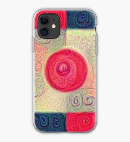 DeepDream Color Squares Visual Areas 5x5K v18 iPhone Case