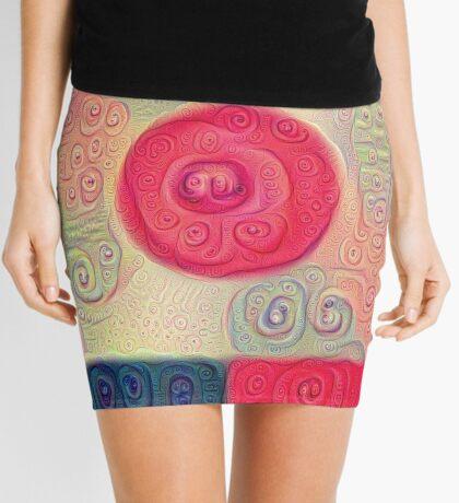 DeepDream Color Squares Visual Areas 5x5K v18 Mini Skirt