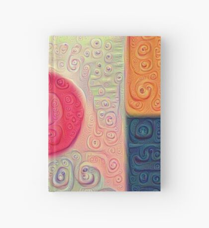 DeepDream Color Squares Visual Areas 5x5K v18 Hardcover Journal