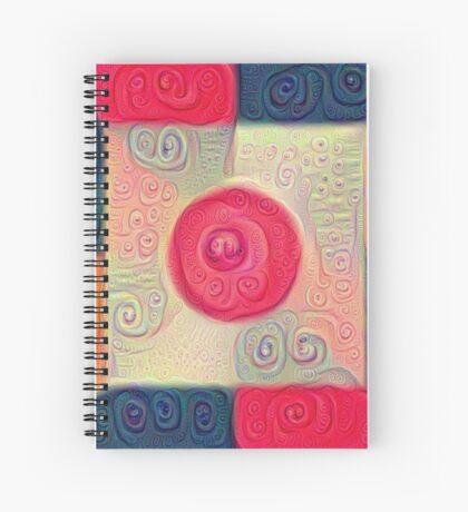 DeepDream Color Squares Visual Areas 5x5K v18 Spiral Notebook