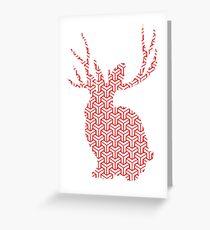 The Pattern Rabbit Greeting Card