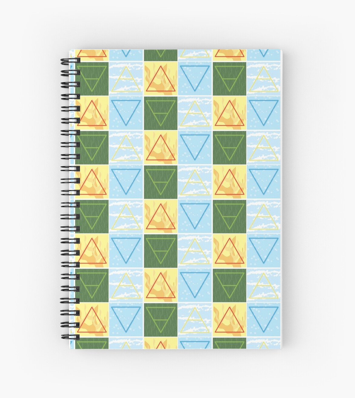 Earth Wind Fire Water Color Alchemy Symbols Spiral Notebooks By