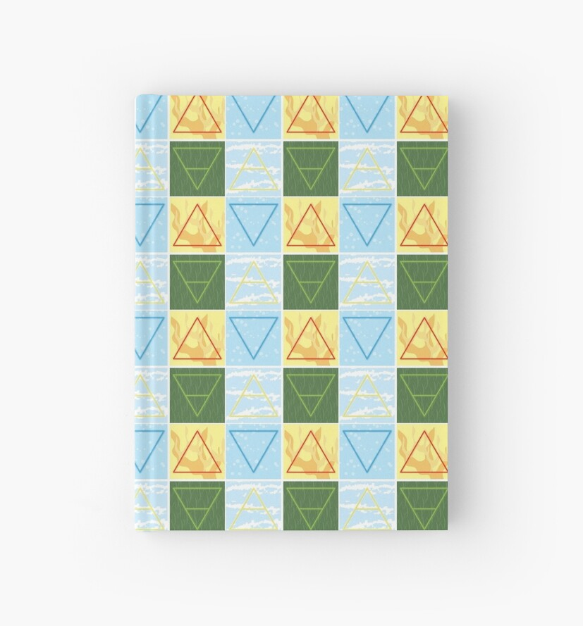 Earth Wind Fire Water Color Alchemy Symbols Hardcover Journals By