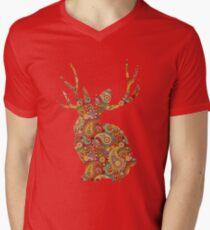 The Paisley Rabbit Mens V-Neck T-Shirt