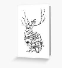 The Stripy Rabbit Greeting Card