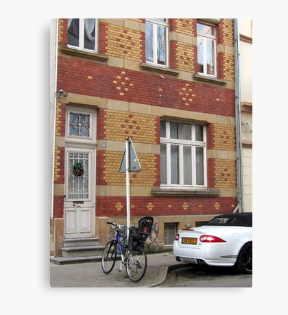 Decorative brick facade - Luxembourg Canvas Print