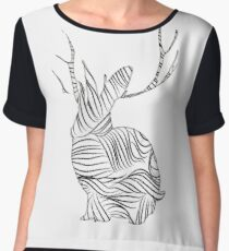 The Stripy Rabbit Chiffon Top