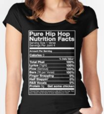 Pure Hip Hop Nutrition Facts Women's Fitted Scoop T-Shirt