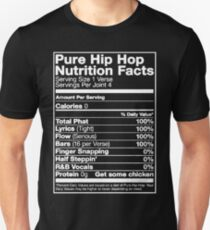 Pure Hip Hop Nutrition Facts Slim Fit T-Shirt