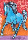 Blue Horse by Juhan Rodrik