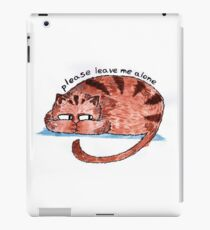 please leave me alone iPad Case/Skin