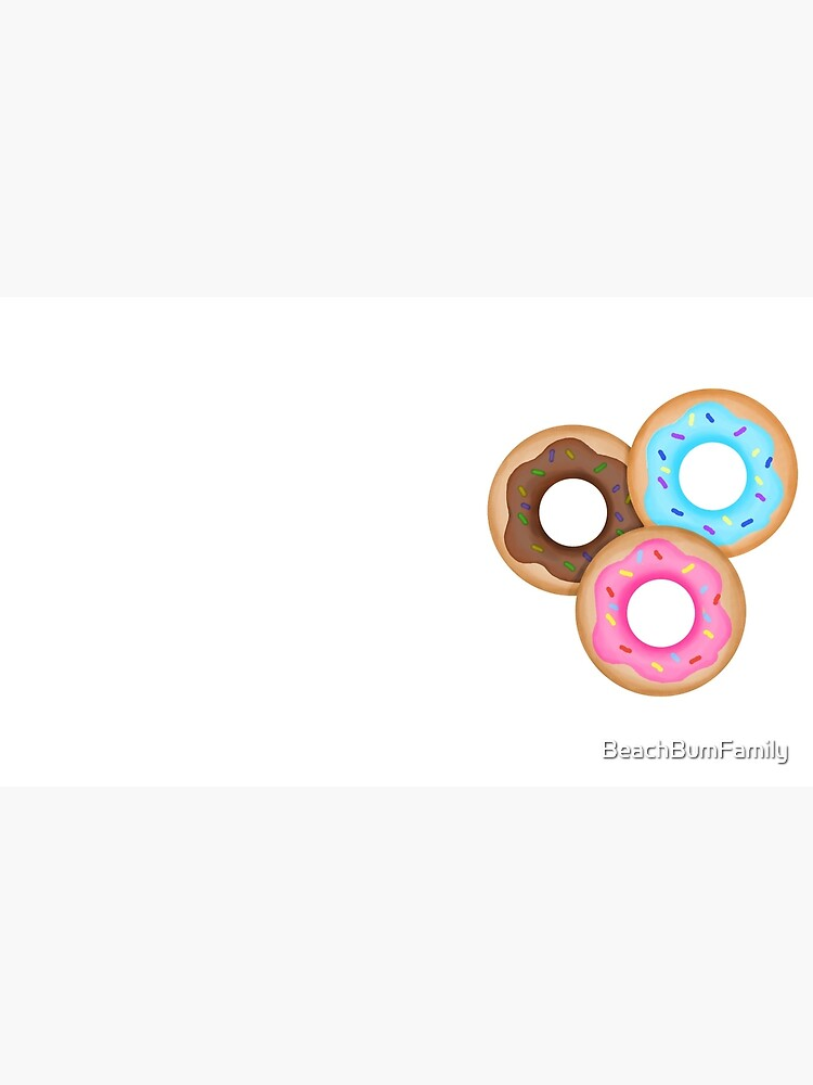 Donut Trio Pink Blue Brown by BeachBumFamily