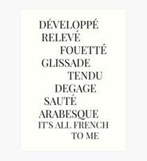 Es ist alles Französisch für mich Kunstdruck