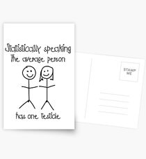 One testicle Postcards