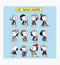 Snoopy Doctors Collage Photographic Print
