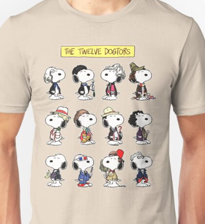 The Twelve Dogtors Snoopy Collage T-shirt