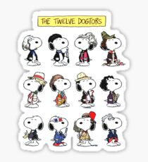 Snoopy Doctors Collage Sticker