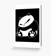 Angry Panda Greeting Card