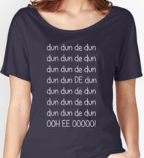 Doctor who Theme (White text) Women's Relaxed Fit T-Shirt