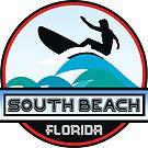 Surfing SOUTH BEACH MIAMI FLORIDA Surf Surfer Surfboard Waves Ocean Beach Vacation by MyHandmadeSigns