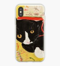 George Myrick - Christmas Bag Cat iPhone Case