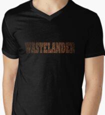 Wastelander (Rust) Mens V-Neck T-Shirt