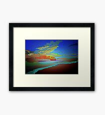 Abstract Art seascape and Sky Framed Print